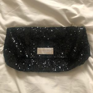 Victoria's Secret Black Sequin Clutch Purse